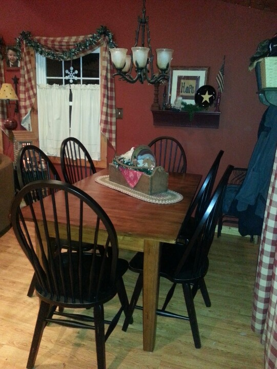LOVE My New Table And Chairs Find This Pin More On Primitive Dining Rooms