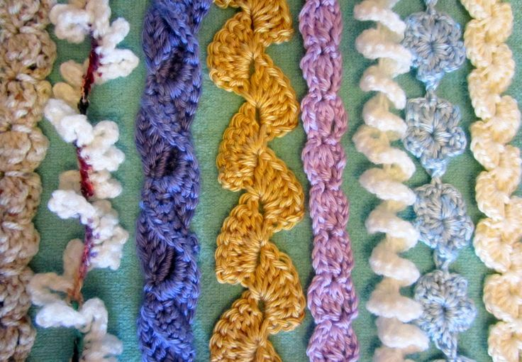 Crocheted cords for lanyards.                                                                                                                                                      More