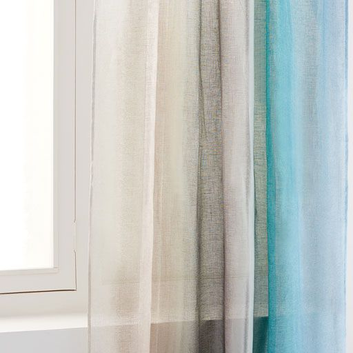 Image of the product MULTICOLOURED PAISLEY PRINT LINEN CURTAIN