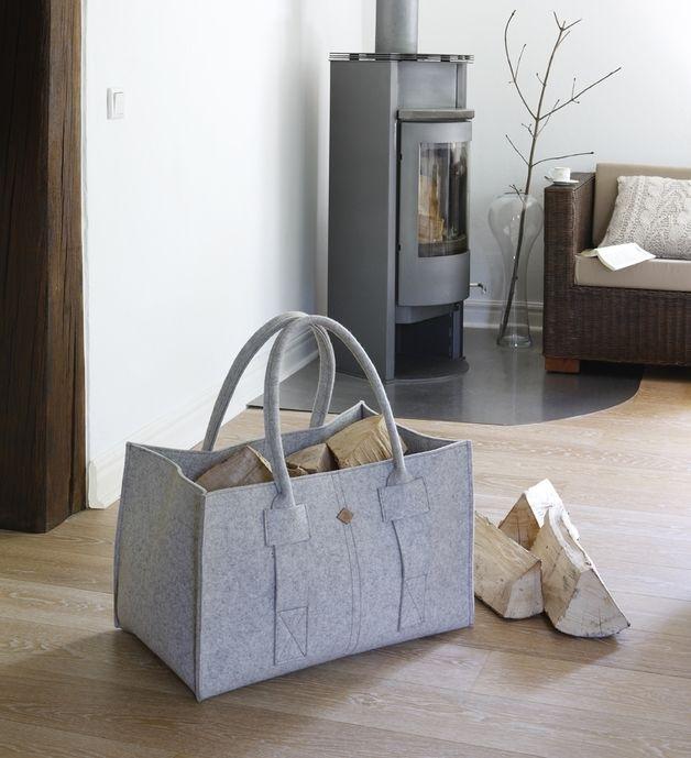 Großer Filzkorb aus Wollfilz sorgt für Ordnung Zuhause / felted basket as storage solution for you home made by TS-Spezialmanufaktur via DaWanda.com
