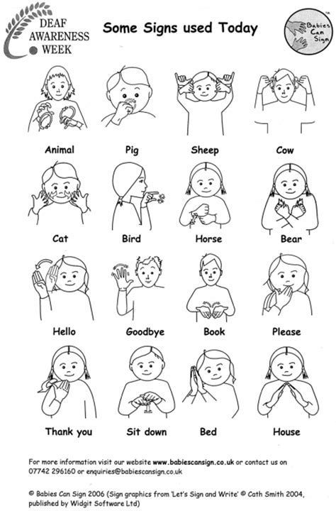 Image Result For Printable Sign Language Pictures