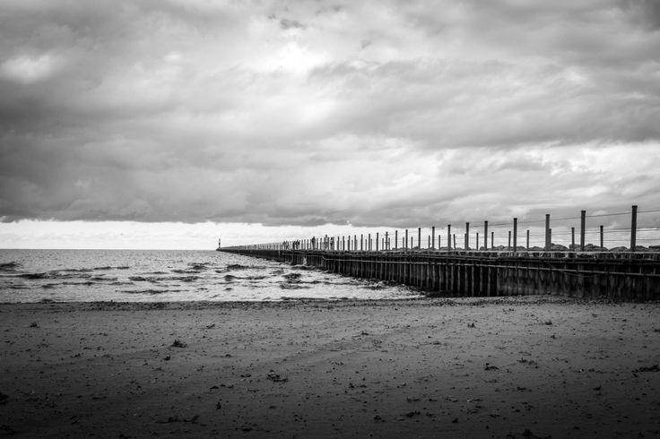 Pier at Lake Ontario Beach, Rochester, NY