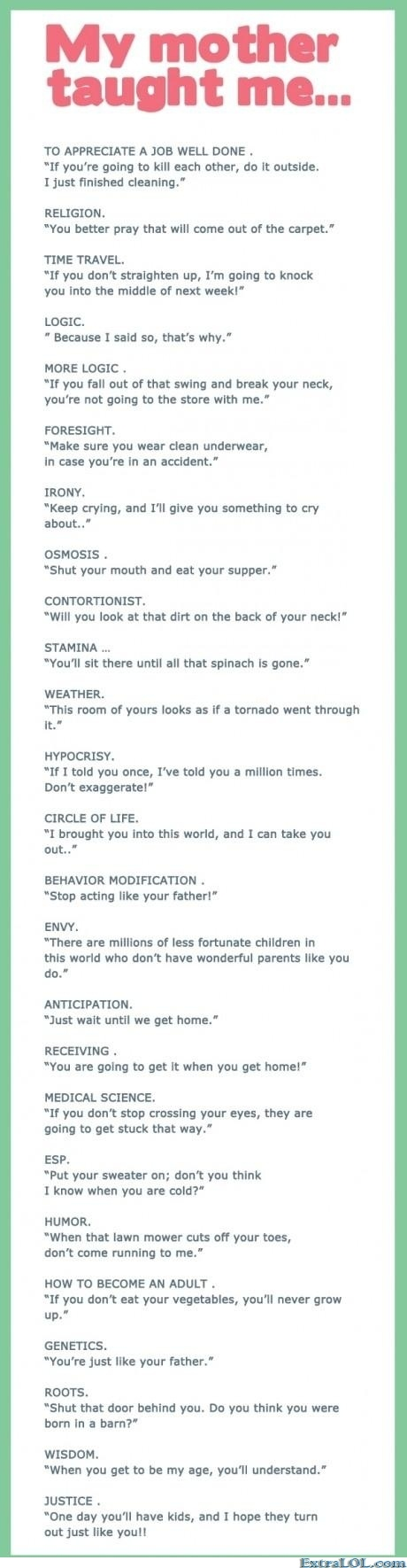 Lessons from Mom      (http://www.extralol.com/?pic=974a6a790e883169299f51ab11add311)