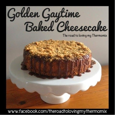 Oh. My. Goodness. I think I have outdone myself on this one. Golden Gaytime Baked Cheesecake!!! This is