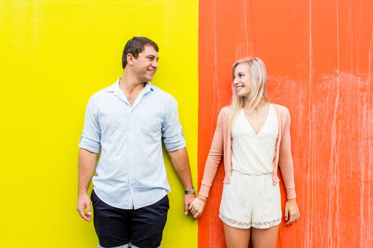 O the beautiful colours of the Bo-Kaap in Cape Town (South Africa).  Getting engaged are wonderful and the colours just shows of the happiness more. Photo credit: Swift Photography