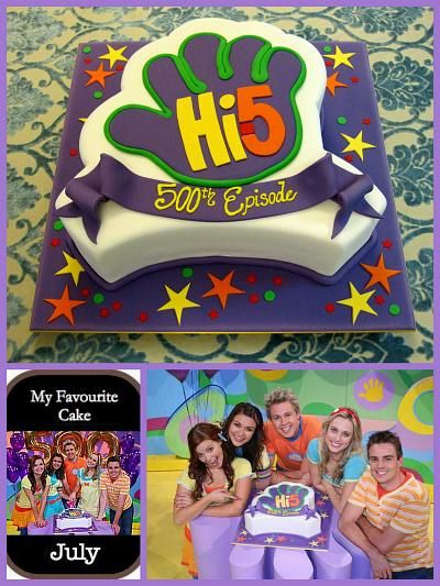 Hi-5 cake idea for 500th TV episode celebrations inspired by michelle cake designs