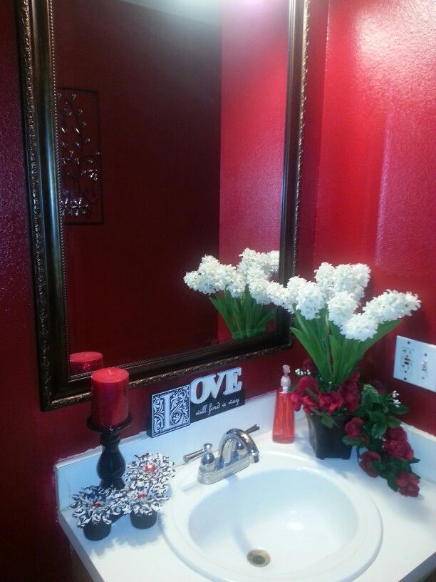 Best Red N Black Bathroom Ideas Images On Pinterest Red