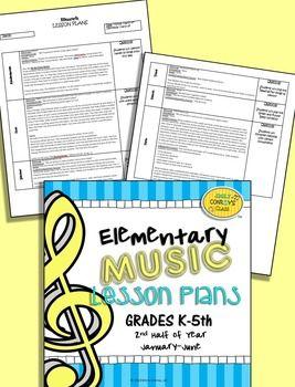 Elementary Music Lesson Plans-Bundled