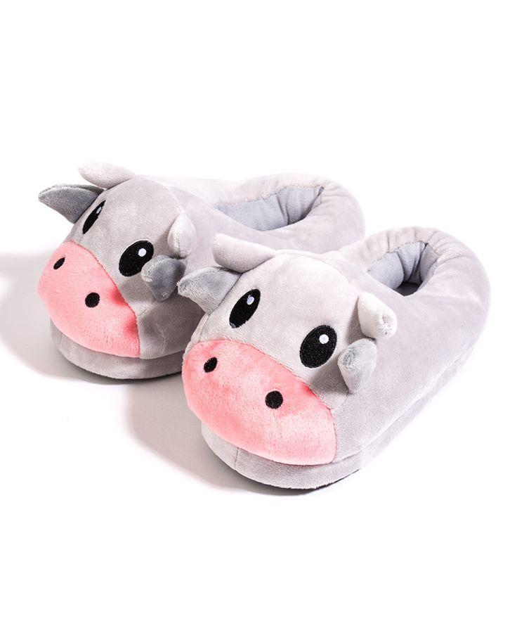 Cow Emoji Large Slippers
