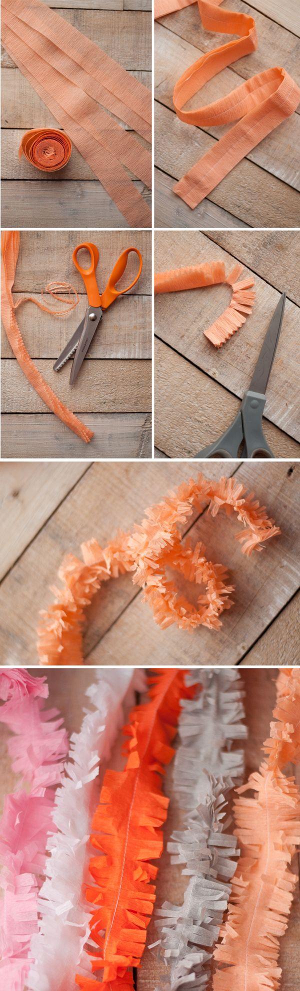 DIY Paper Fringe Garland
