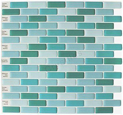 "Crystiles® Peel and Stick Self-Adhesive Vinyl Wall Tiles, Item# 91010832, 10"" X 10"", Set of 6"