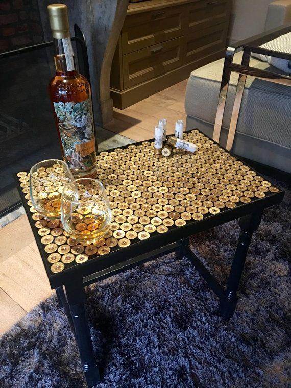12 Gauge Shotgun Shell Whiskey Table by 12GFurniture on Etsy