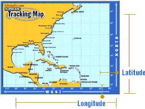 TRACKING MAP -- See how meteorologists use latitude and longitude to track the movement of a hurricane. Then give it a try.