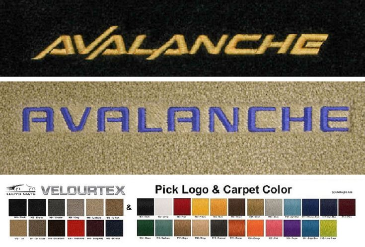 Add a nice touch to the interior of your 2002-2013 Chevrolet Avalanche with Lloyd Mats Velourtex floor mats. Sold as a pair of front floor mats with the Avalanche logo of your choice embroidered in your choice of thread color and on your choice of carpet color. | eBay!