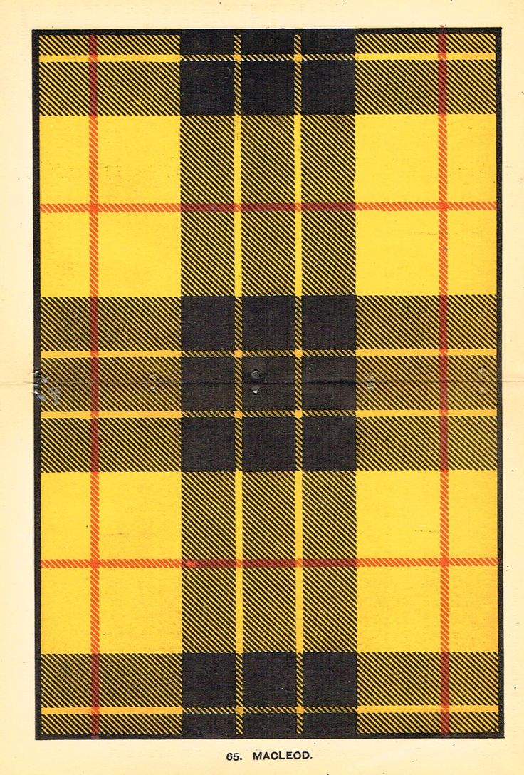 "Johnston's Scottish Tartans - ""MACLEOD"" - Chromolithograph - c1890"