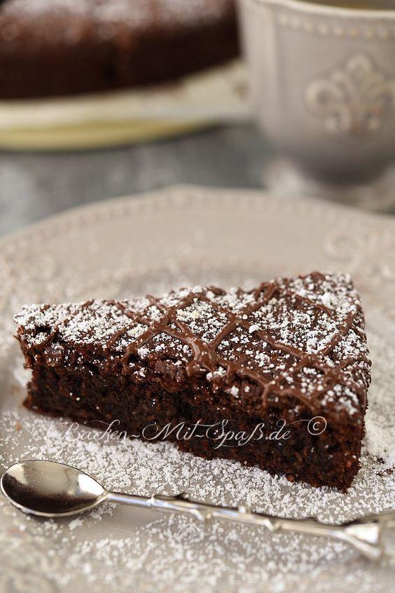 Schoko Nuss Kuchen Ohne Mehl Rezept Backen Pinterest Cake