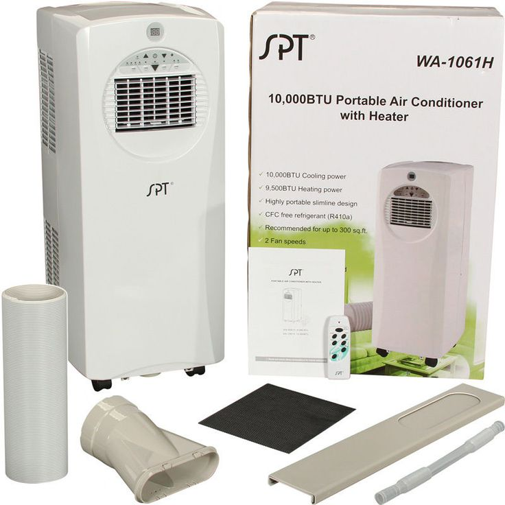 10000 BTU Portable Air Conditioner + Heat Pump, Small Room Slim AC W/ Window Part 62