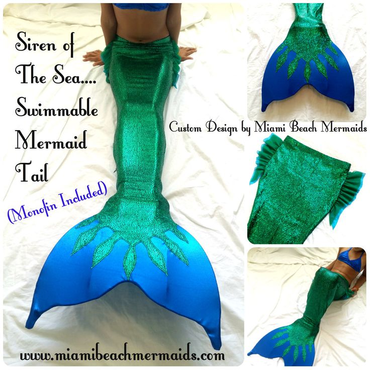 Siren of the Sea! Swimmable Mermaid Tail by M.B.M. by Miamibeachmermaids on Etsy https://www.etsy.com/listing/220092377/siren-of-the-sea-swimmable-mermaid-tail