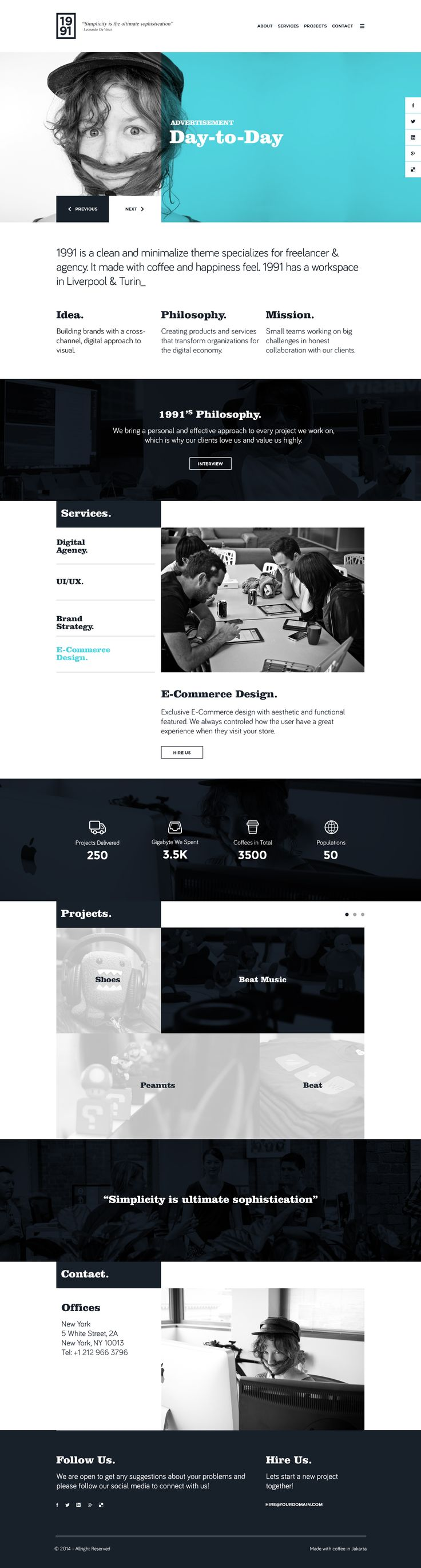 1991 - Onepage PSD Template by OffWeekend | ThemeForest