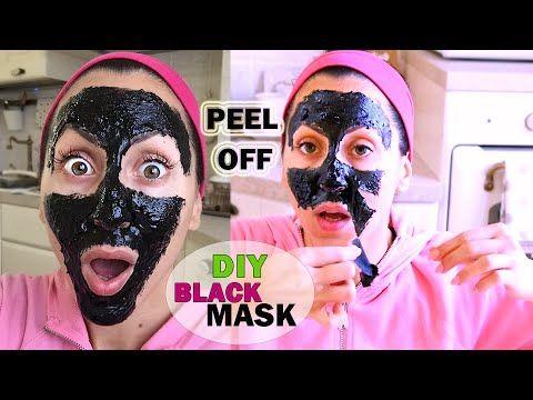 PUNTI NERI ADDIO!!! MASCHERA PEEL OFF Fatta in Casa | DIY BLACK MASK Peel Off !!! | Carlitadolce - YouTube