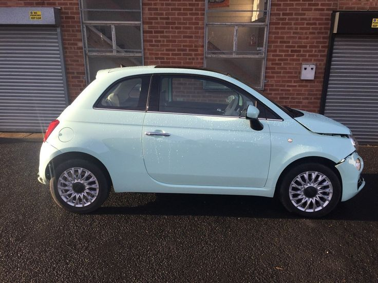 eBay: fiat 500 lounge 1.2 petrol manual 2016 green damaged repairable salvage #carparts #carrepair