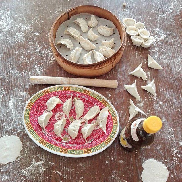 Travail terminé. Trabajo terminado....#jiaozi #recettesdunechinoise #cookingclass #margotzhang #clasedecocina #cocinachina #chinesecuisine #餃子 #饺子