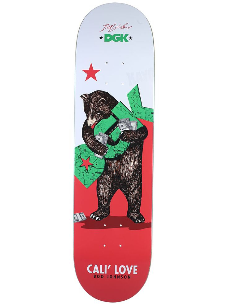 California Love Boo Johnson Skateboard DGK Deck - http://streetskatekings.blogspot.com/2017/03/boo-johnson-cali-love-deck-skateboard-sale.html