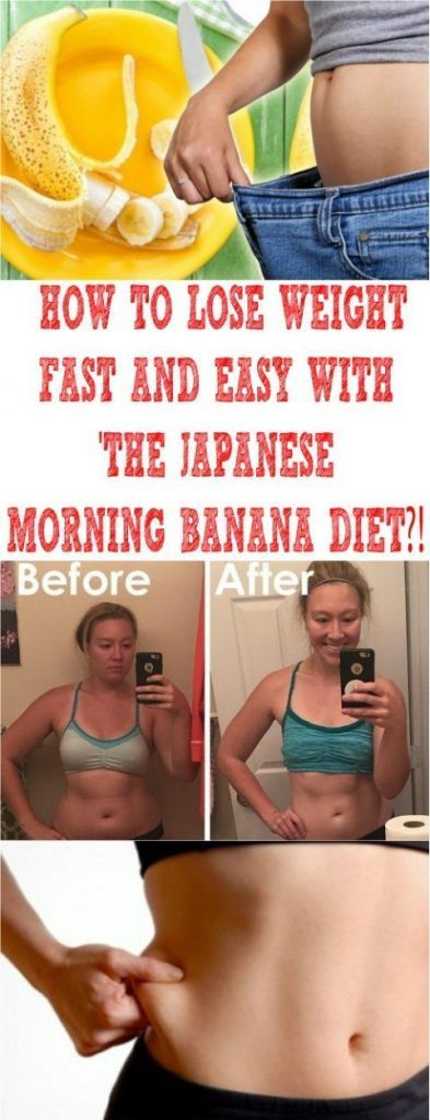 Eat a banana each morning and lose up to 10 pounds…