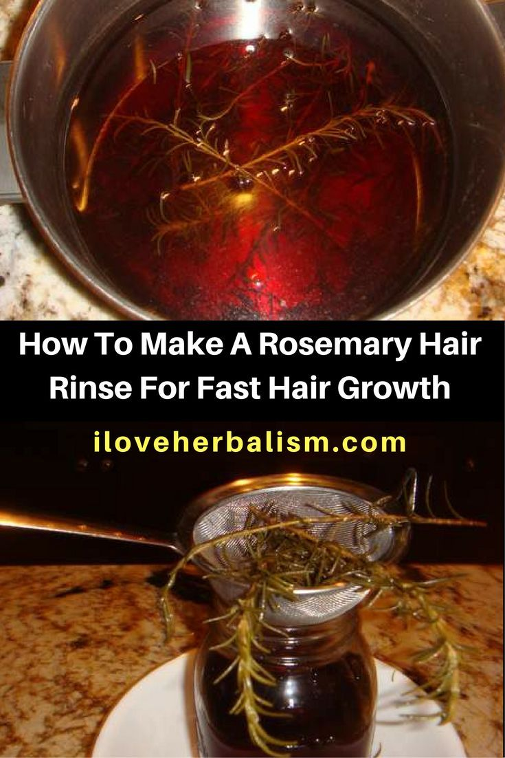 Rosemary has many different uses, and is frequently associated with hair growth. Rosemary contains certain organic compounds (phenolic diterpenes, flavonoidsphenolic acids and essential oils)  that help to stimulate your scalp circulation, that in-turn promotes new and faster hair growth. Here is the way to make a rosemary hair rinse for fast hair growth.