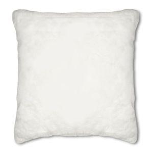 Dartmoor White Faux Fur Cushion