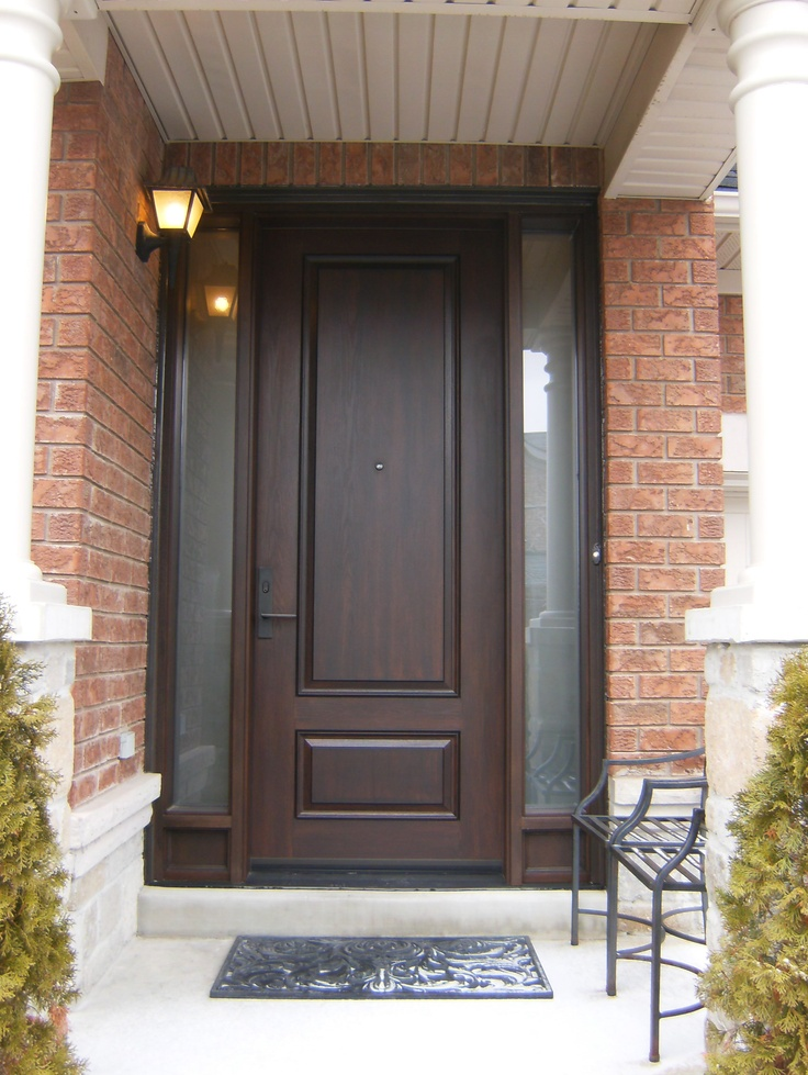 Double Door And Transom Replaced With 8 39 Fiberglass Door And Two Custom Sidelights Www