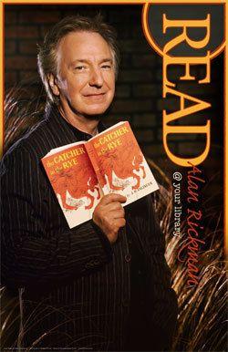 """Alan Rickman """"Read"""" poster."""