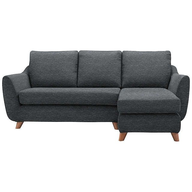 BuyG Plan Vintage The Sixty Seven RHF Chaise End Sofa, Fleck Pewt Online at johnlewis.com