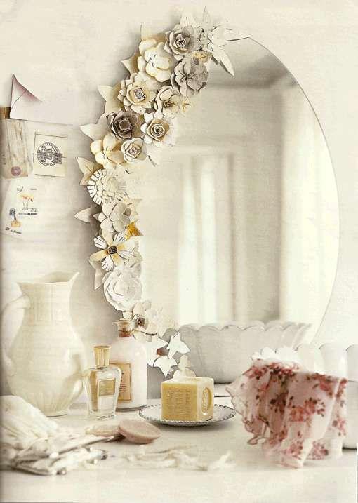 Fiori sullo specchio