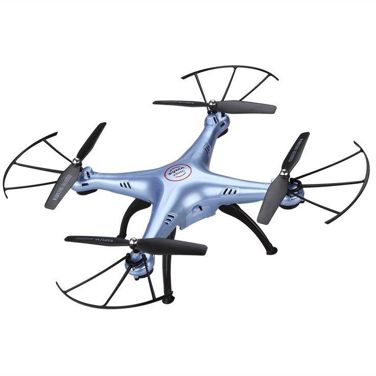 Syma X5HC - Drone Quadcopter RC con Barómetro 6 Axis Gyro (2.0MP HD Cámara, sin Cabeza, Luz de LED, 4 Canales, 360 ° Tirones, Vuelo Nocturno) (Azul): Amazon.es: Juguetes y juegos