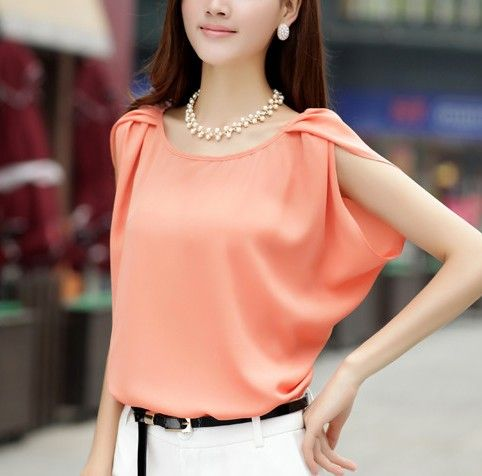 Korean New Fashion 2014 Spring Summer Ladies Chiffon Blouse Solid Color Short Raglan Sleeve SZ Loose Chiffon Shirts Women Tops - http://www.aliexpress.com/item/Korean-New-Fashion-2014-Spring-Summer-Ladies-Chiffon-Blouse-Solid-Color-Short-Raglan-Sleeve-SZ-Loose-Chiffon-Shirts-Women-Tops/1739139966.html
