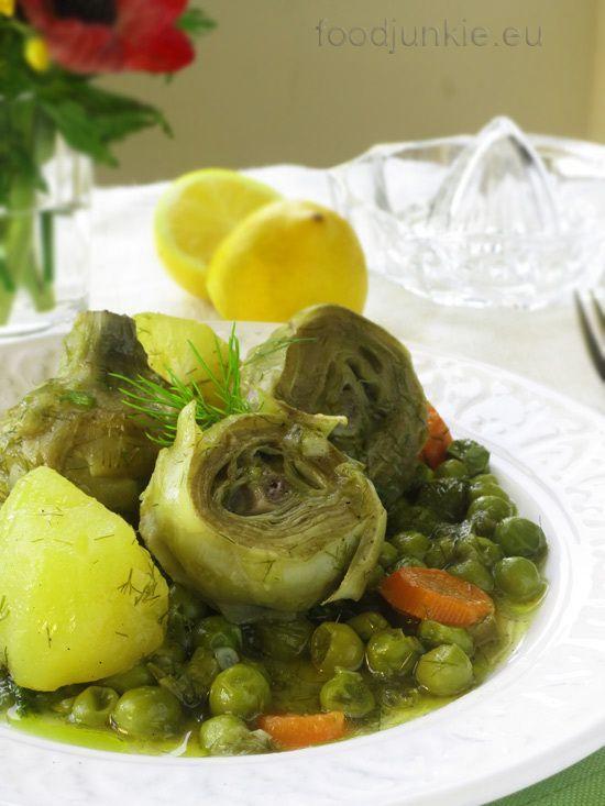 """Αγκινάρες με αρακά """"αλά πολίτα"""": η άνοιξη στο πιάτο!"""