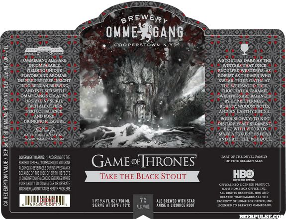 Ommegang formally introduces next Game of Thrones beer, Take the Black Stout