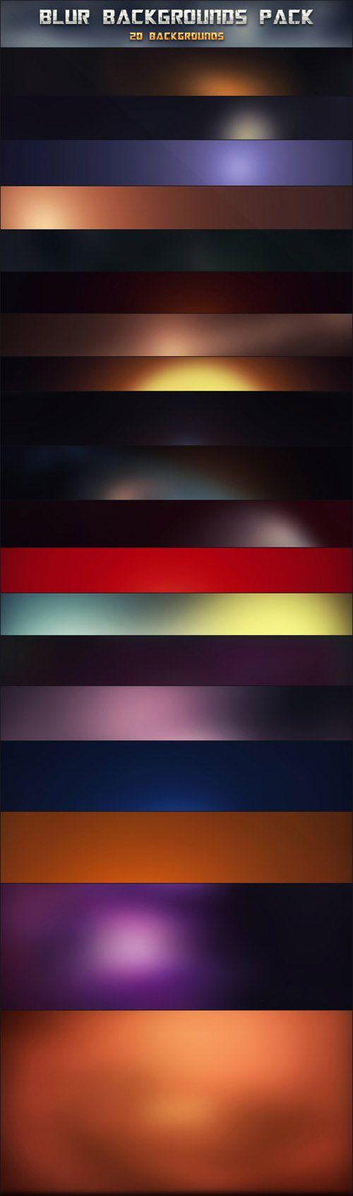 20 HD Blur Backgrounds Set 20 JPG | 2600x1600 PIX | 5 MB