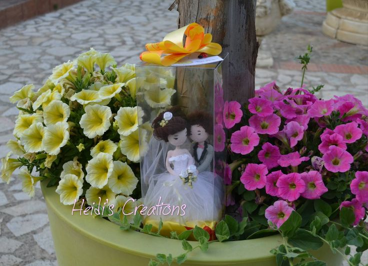 Амигуруми-amigurumi-crochet bride  groom-Невеста, жених, Амигуруми-sposi bomboniera amigurumis