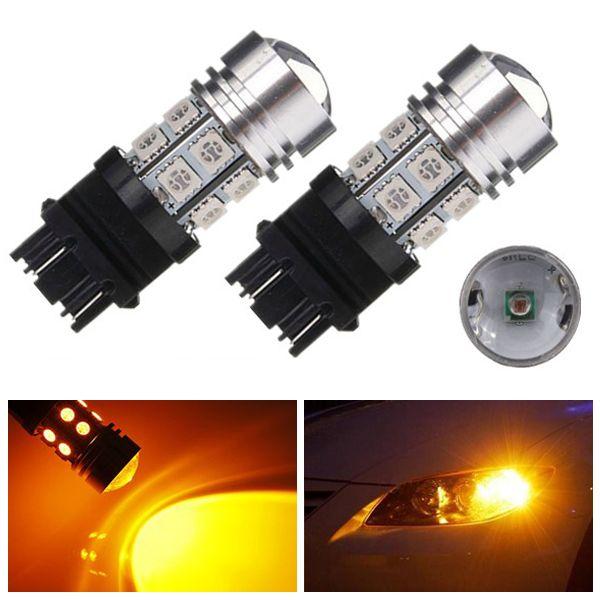 3157 10w 12 Smd Led 5050 Amber Stop Tail Light Bulb Bulb Tail Light Light Bulb