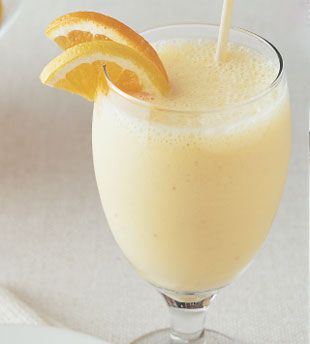 Orange and Banana Yogurt Smoothie - Bon Appétit  -- simple and yummy.  Will probably experiment with adding a bit more to it to make it last longer.