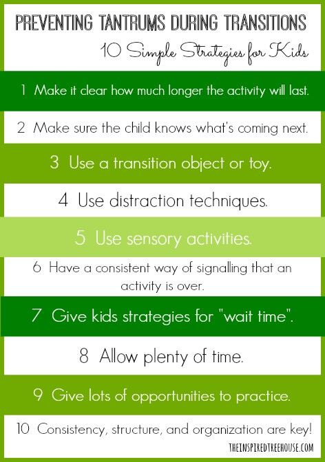 10 Calming Techniques and Transition Strategies for Kids ...