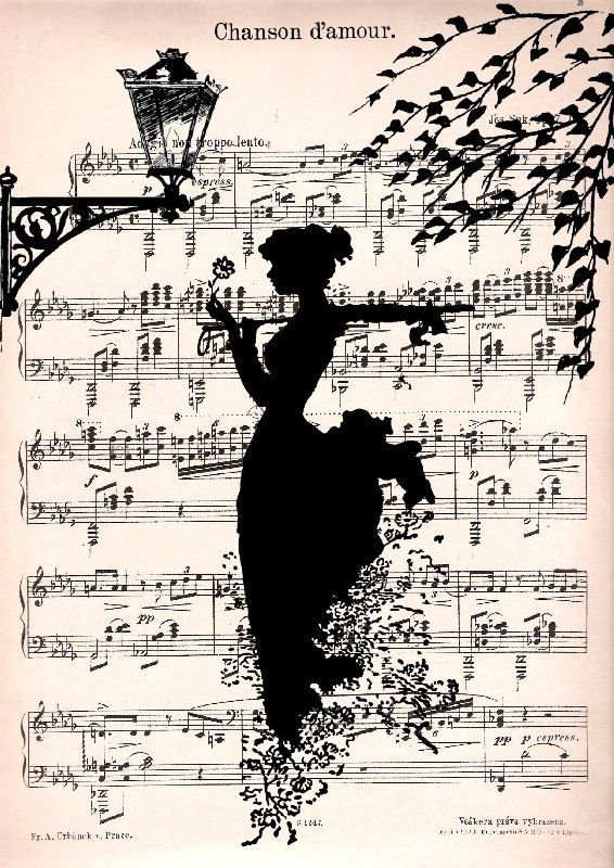 Paint on sheet music. awesome. If I can find any to spare