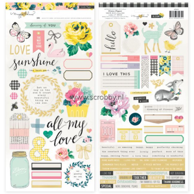 Crate Paper Maggie Holmes Bloom Stickers Accents