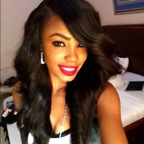 Magnificent Wavy Weave Hairstyles With Side Bangs Picturesgratisylegal Short Hairstyles For Black Women Fulllsitofus