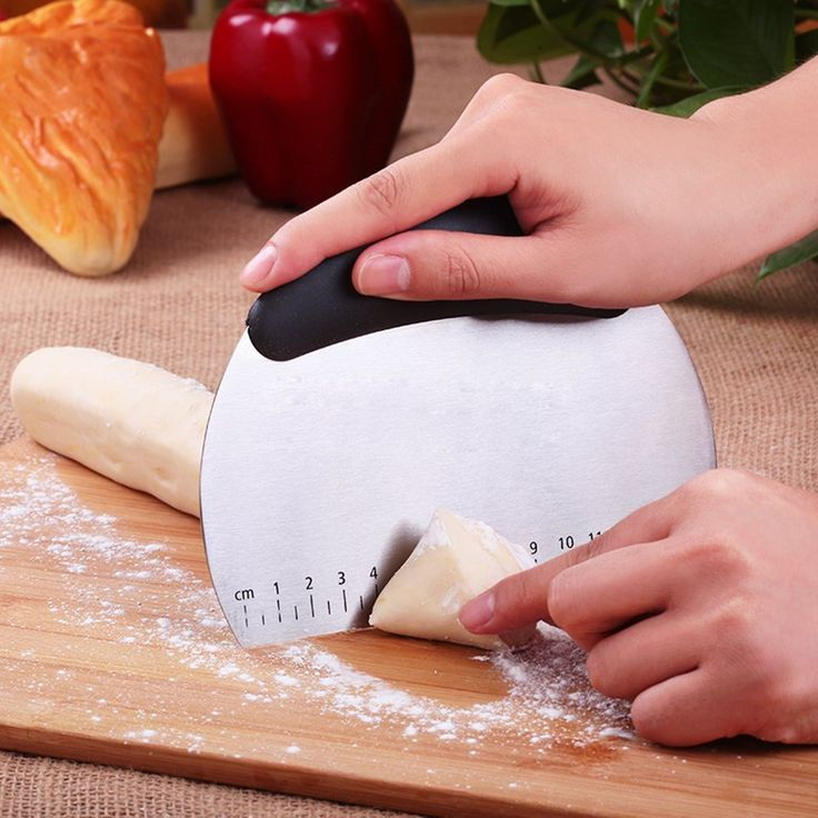 LOYMR Stainless Steel Pastry Scraper / Cutter / Chopper,Multipurpose Scraper with Measuring Scale and Conversion >>> Trust me, this is great! Click the image. : Baking Tools and Accessories