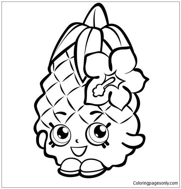 Fruit Pineapple Shopkins Coloring Page Shopkin Pages Rhpinterest: Shopkins Apple Coloring Pages At Baymontmadison.com