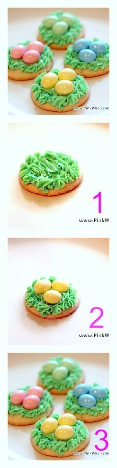 A sweet Easter nest cookie! File under quick and easy baking idea.