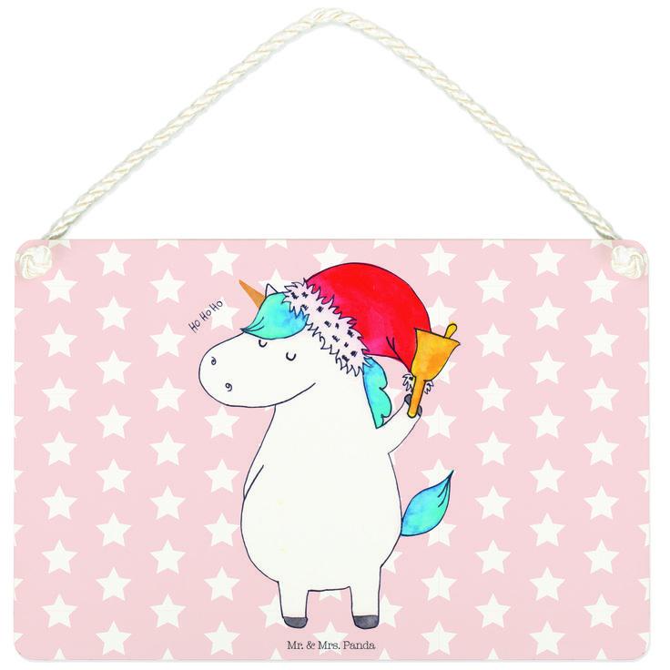 Deko Schild Einhorn Weihnachtsmann aus MDF  Weiß - Das Original von Mr. & Mrs. Panda.  Ein wunderschönes Schild aus der Manufaktur von Mr. & Mrs. Panda - die Schilder werden von uns direkt nach der Bestellung liebevoll bedruckt und mit einer wunderschönen Kordel zum Aufhängen versehen.    Über unser Motiv Einhorn Weihnachtsmann  Das Weihnachtsmann-Einhorn ist viel besser als jeder aufwendig gestaltete Wunschzettel. Einfach dem Partner oder Freunden schenken und schon kennen sie die…